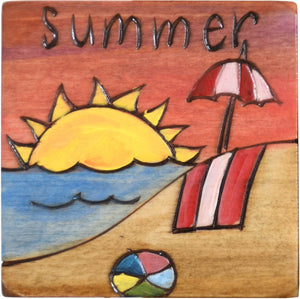 Large Perpetual Calendar Magnet –  Summer solstice is the longest day of the year, what a great day to head to the beach