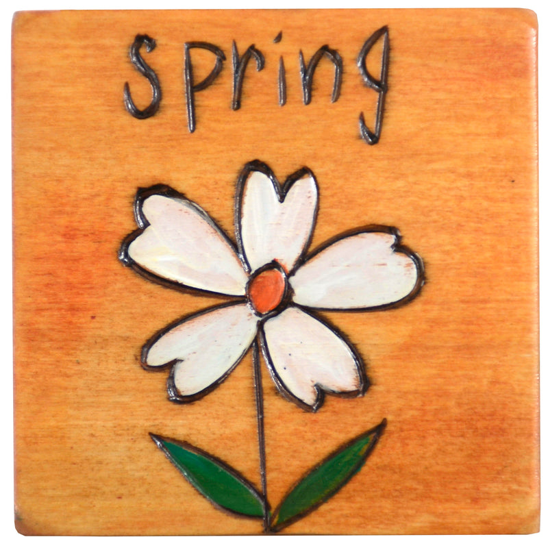 Set of seasonal scene and icon magnets to mark the changing seasons on your large Sticks calendar, spring flower magnet