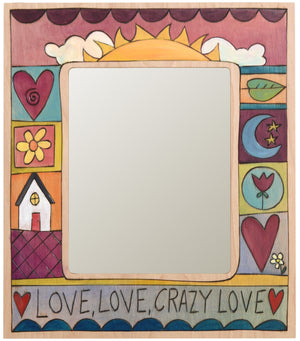 "8""x10"" Frame –  Love, Love, Crazy Love frame with sunset motif"