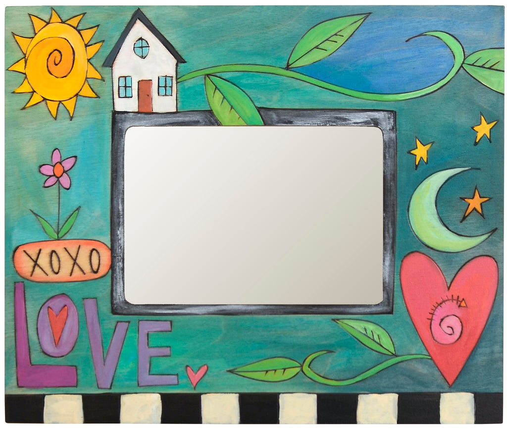 "Sticks handmade 5x7"" picture frame with love theme"