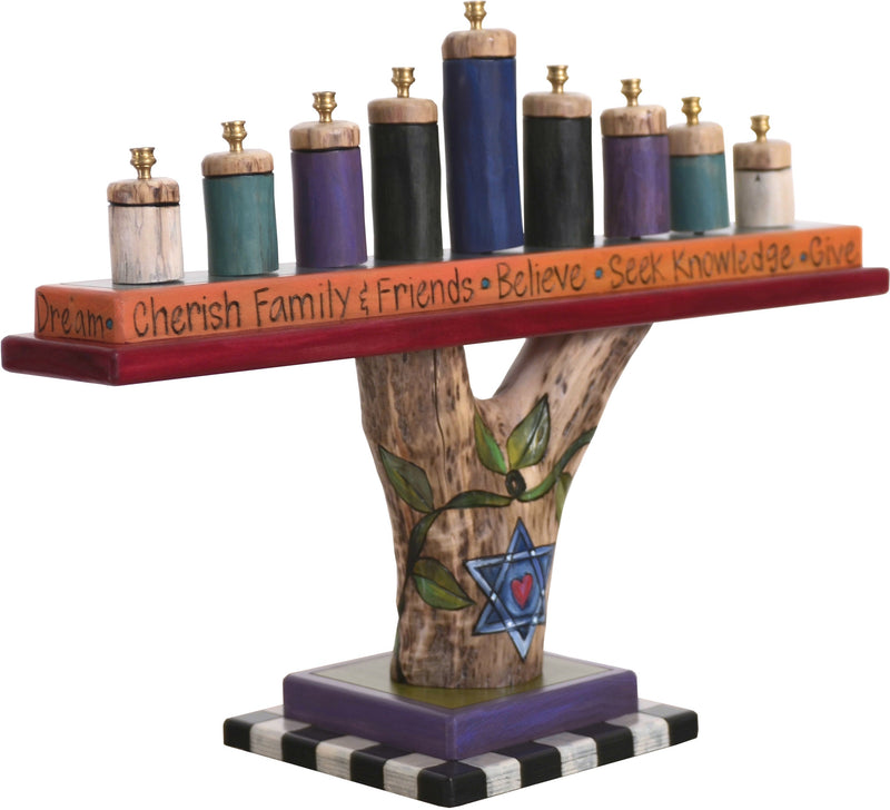 Log Menorah
