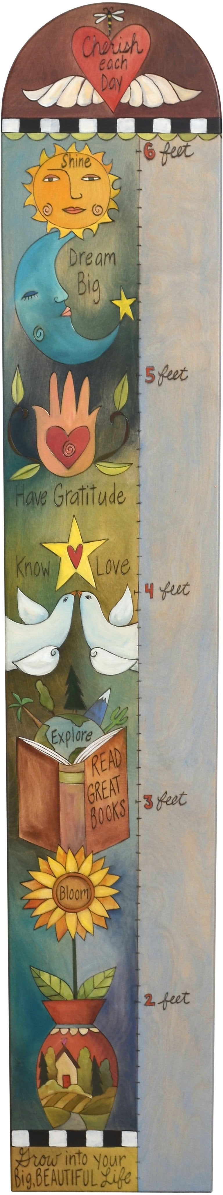 Everlasting Growth Chart –  Elegant growth chart with symbolic icons and a heart with wings at the top