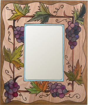 "Sticks handmade 5x7"" picture frame with grape vine design"