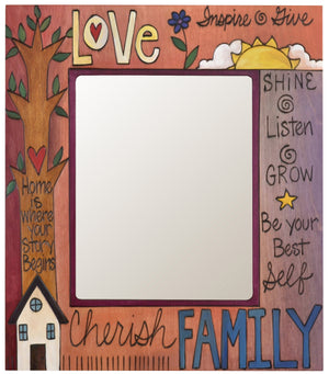 "8""x10"" Frame –  ""Love/Cherish Family"" frame with home and tree motif"