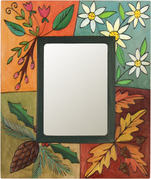 "Sticks handmade 5x7"" picture frame with four seasons foliage"