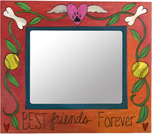 "8""x10"" Frame –  ""Best Friends Forever"" frame with dog bone and paw print motif"