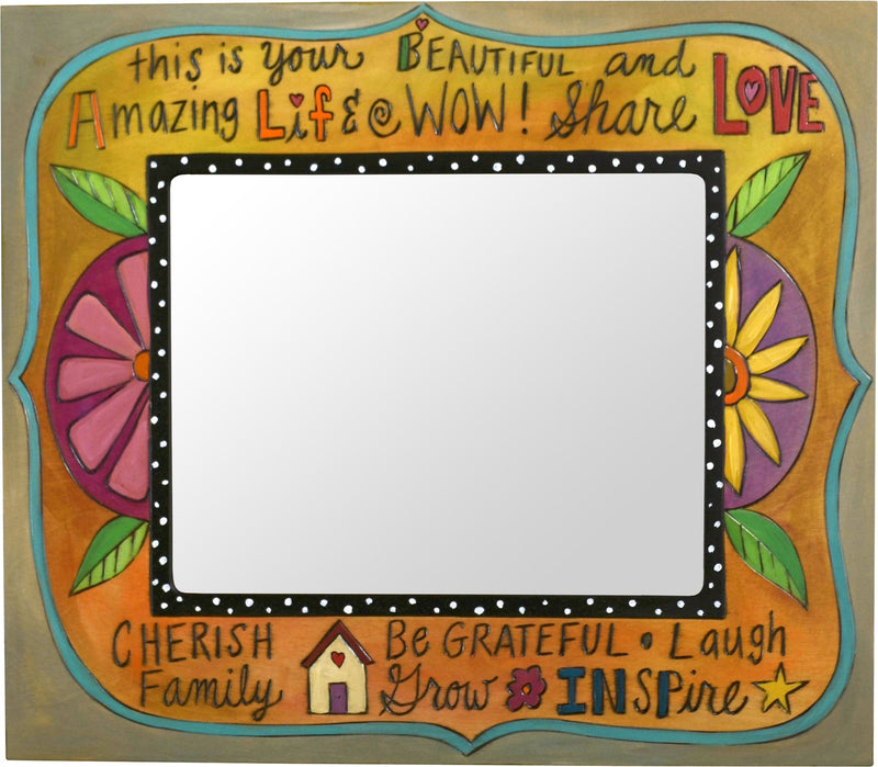 "8""x10"" Frame –  Golden floral motif frame with inspirational phrases"