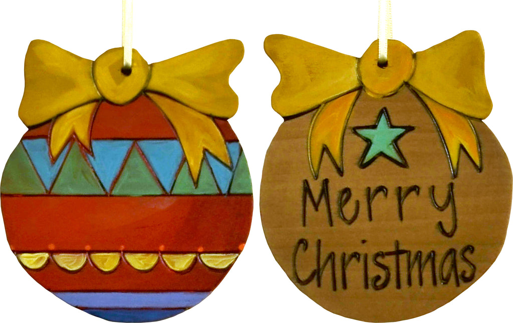 Ball Ornament –  Merry Christmas ball ornament with colorful motif
