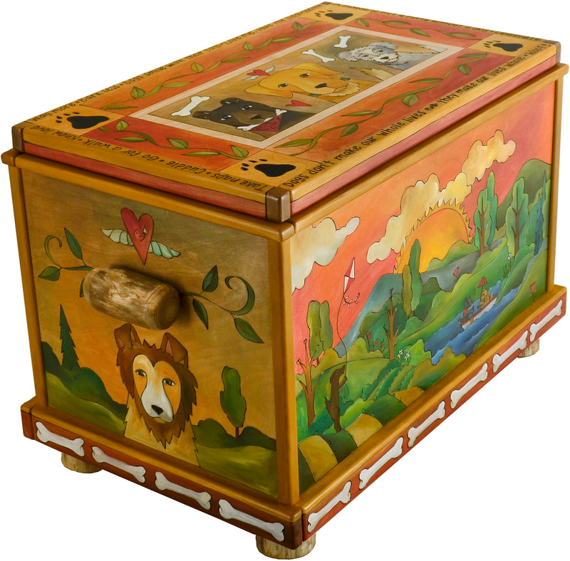 Chest –  A four seasons themed doggy motif chest