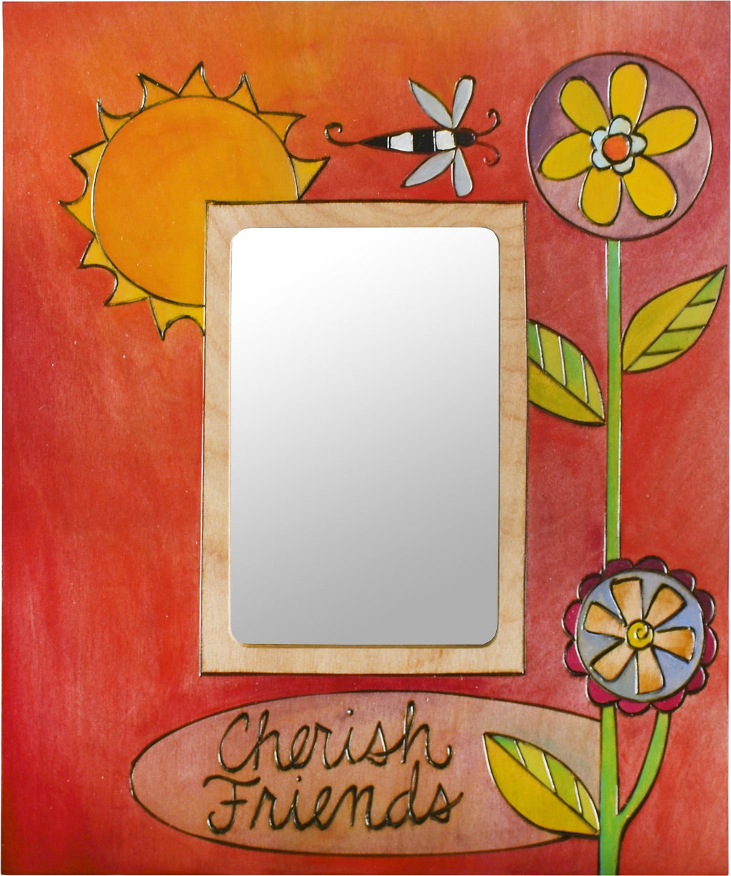 Sticks handmade picture frame with contemporary floral design