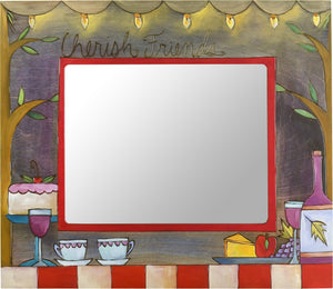 "8""x10"" Frame –  ""Cherish Friends"" evening picnic and dinner party frame"