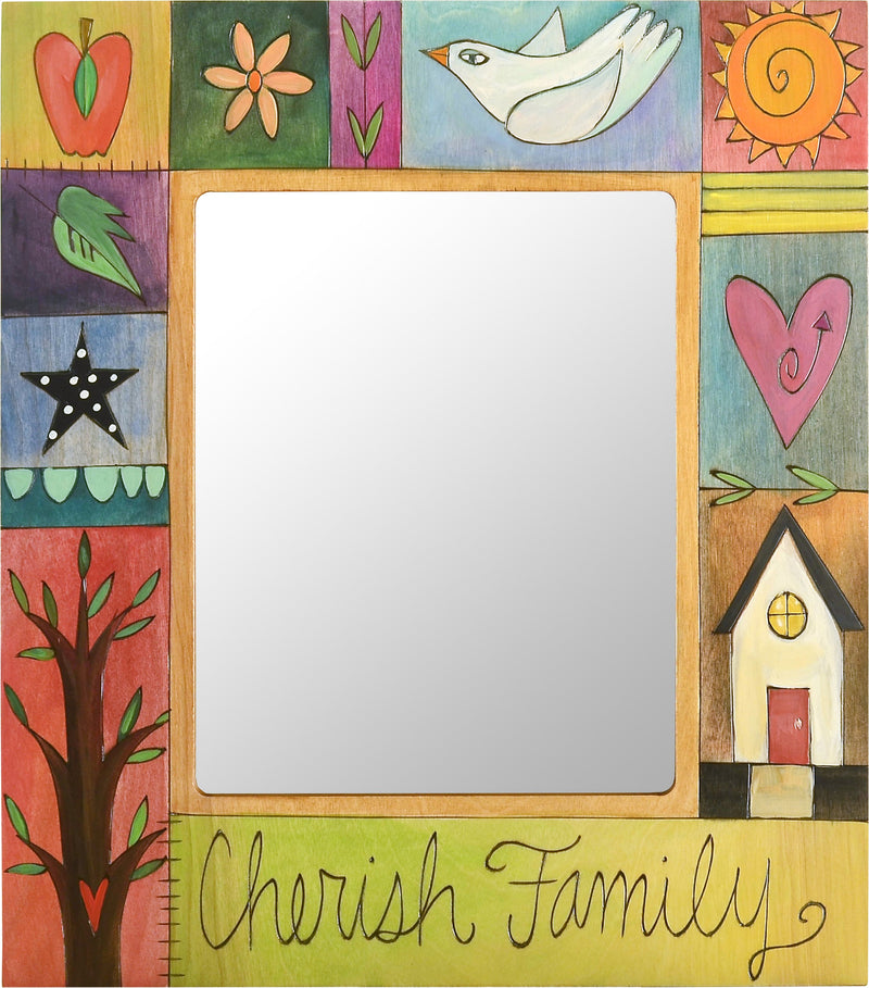 "8""x10"" Frame –  Colorful ""Cherish Family"" frame with block icons"
