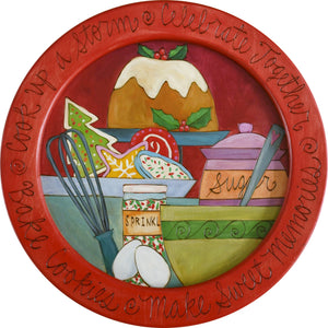 "16"" Round Tray –  Perfect for serving at a Christmas party or for Santa's milk and cookies"