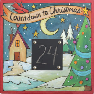 Christmas Countdown Plaque –  Countdown the number of days until Santa arrives!