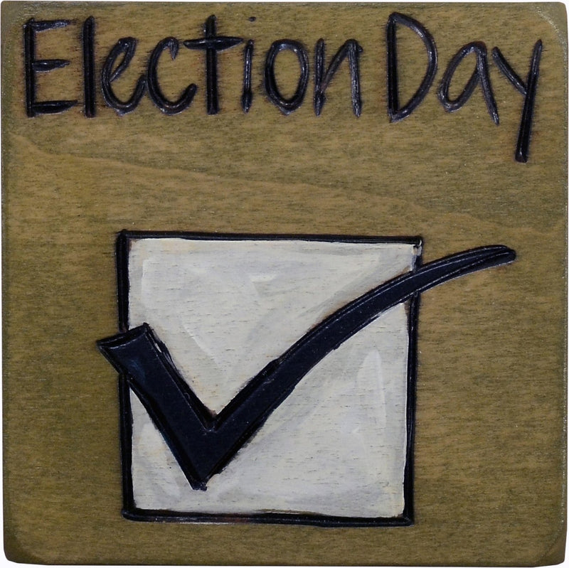 "Large Perpetual Calendar Magnet –  ""Election Day,"" perpetual calendar magnet with check mark"