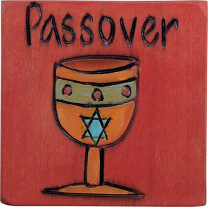"Large Perpetual Calendar Magnet –  ""Passover"" magnet with Star of David goblet"