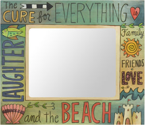 "8""x10"" Frame –  Pastel and aqua beach themed picture frame"