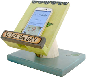 Cookbook and Tablet Stand –  Seize the Day cookbook and tablet stand with flower motif