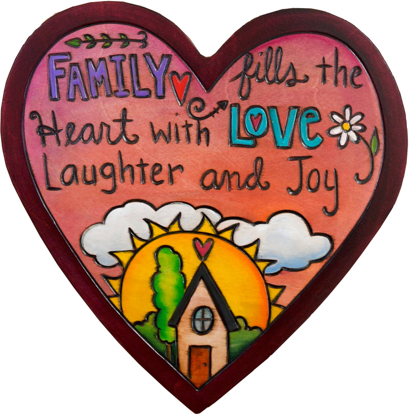 Heart Shaped Plaque –  A quote and home sweet home motif fill this heart with love for your family