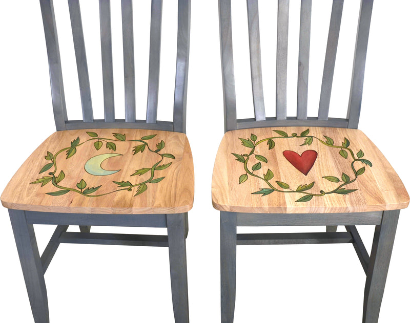 Pops Chair Set –  Chair set with Moon, Heart, Sun and Star motif with vines