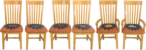 Fancy Pops Chair Set –  Neutral color palette chairs with hand embroidered seats