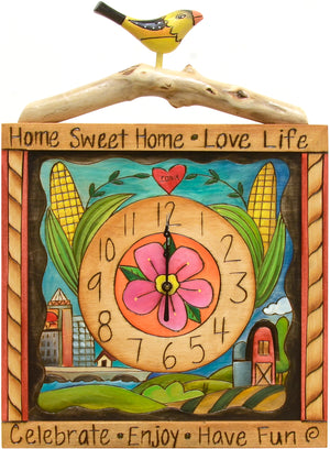 Square Wall Clock –  This clock motif honors our home of Des Moines, Iowa