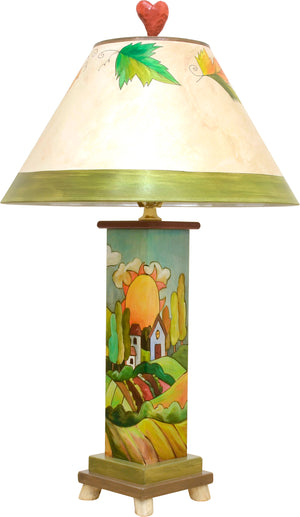Box Table Lamp –  A charming Tuscan landscape designed lamp