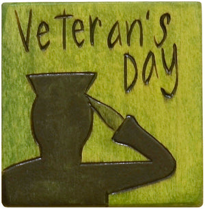 Large Perpetual Calendar Magnet –  Honor Veteran's Day on your Sticks calendar