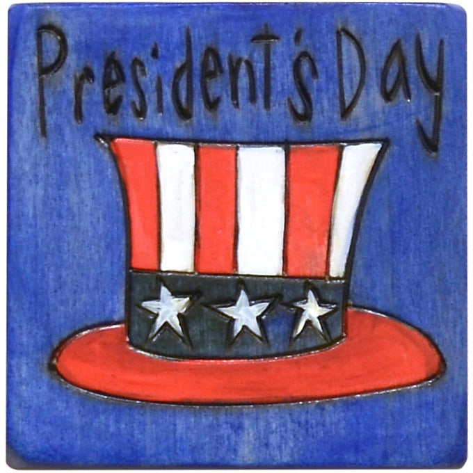 "Large Perpetual Calendar Magnet –  Celebrate our founding fathers with this ""President's Day"" magnet"