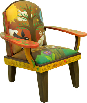 Friedrich's Chair –  A landscape motif filled with lots of wildlife and furry critters