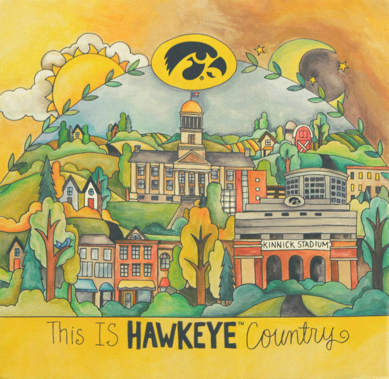 University of Iowa Stretched Canvas