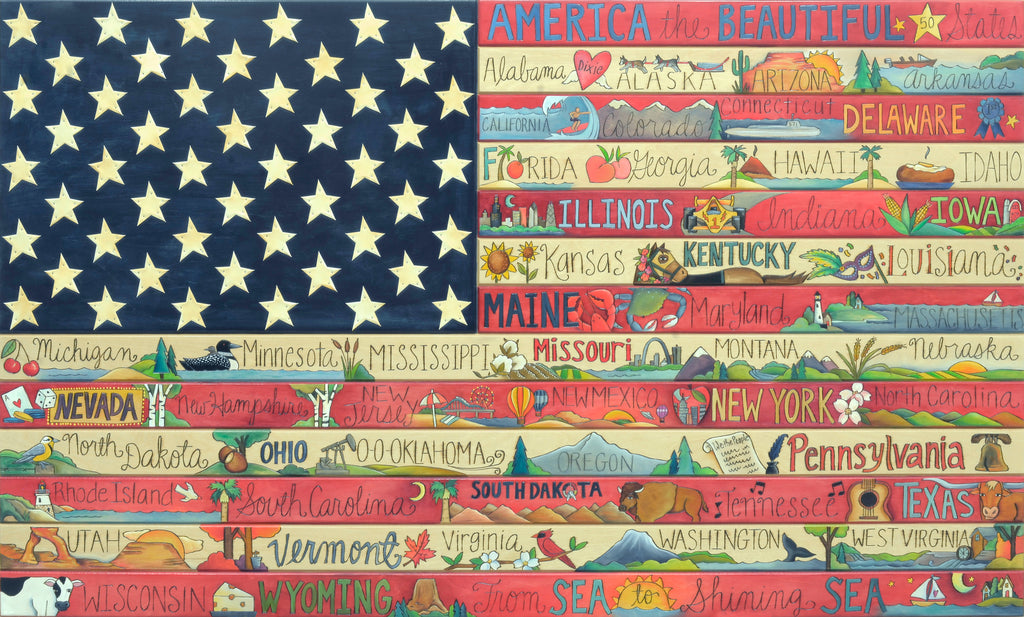 American Flag Plaque 2018 Edition –  Explore the greatness of all 50 Nifty United States
