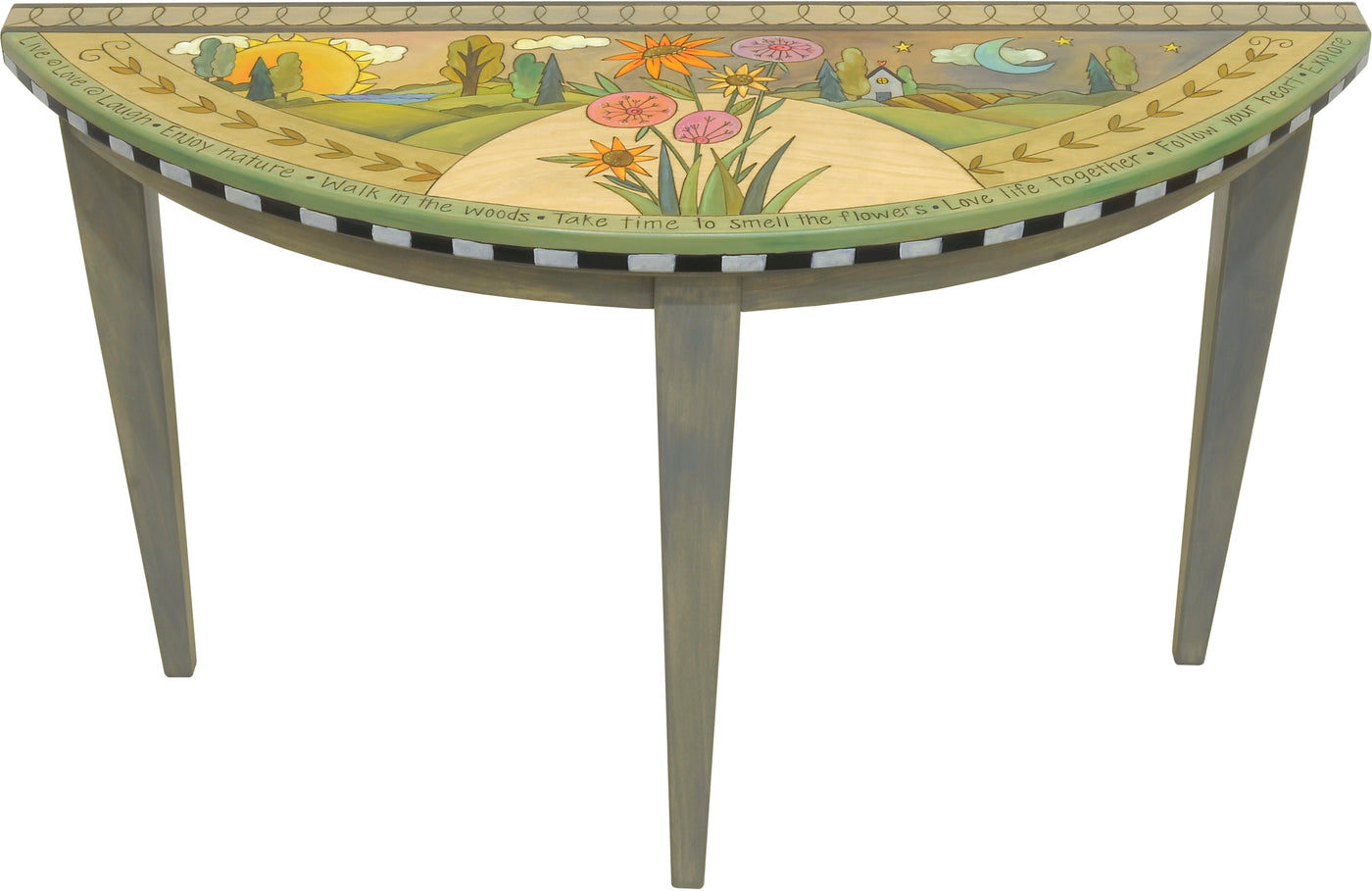 Large Half Round Table