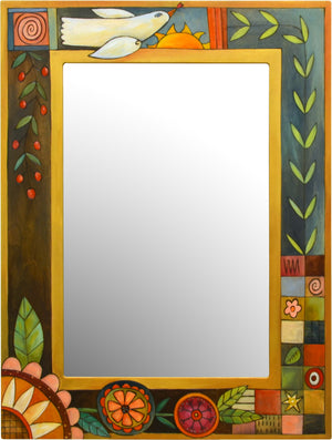 Rectangular Mirror –  Patchwork and floral designs mix for an eclectic motif