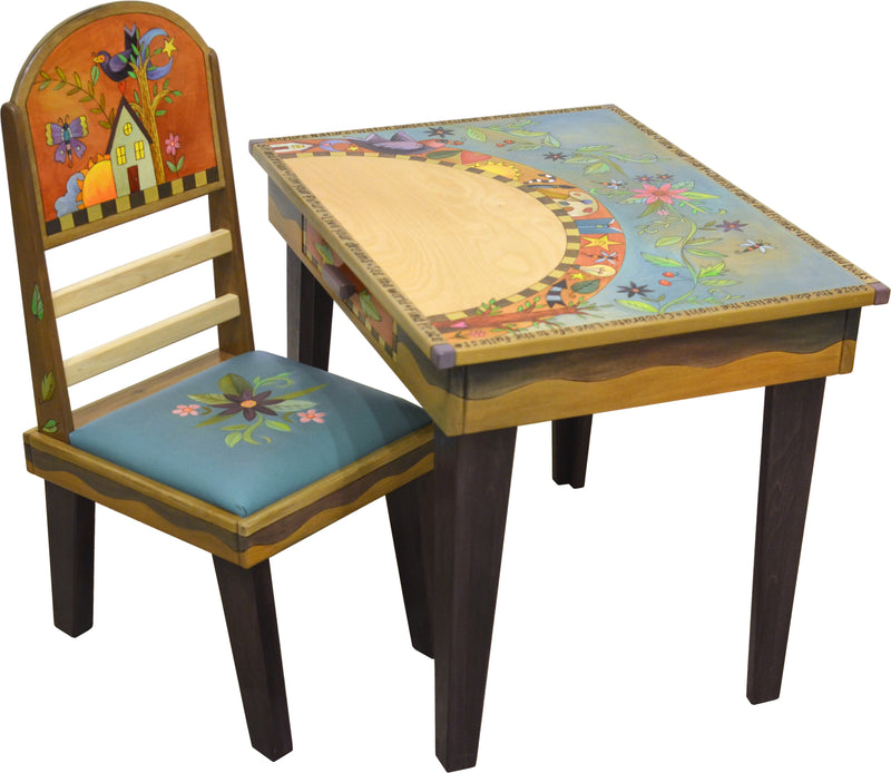 Deep Desk –  Cute writing desk with icon arch and floral motif