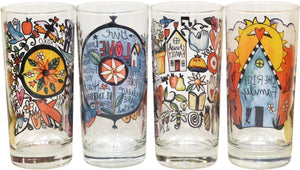 Mixed Set Drinking Glasses – Cheers to cute glassware by Sticks, this set features one of each of our four designs reverse view