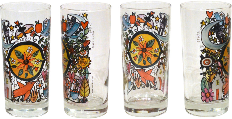 Flora & Fauna Drinking Glasses