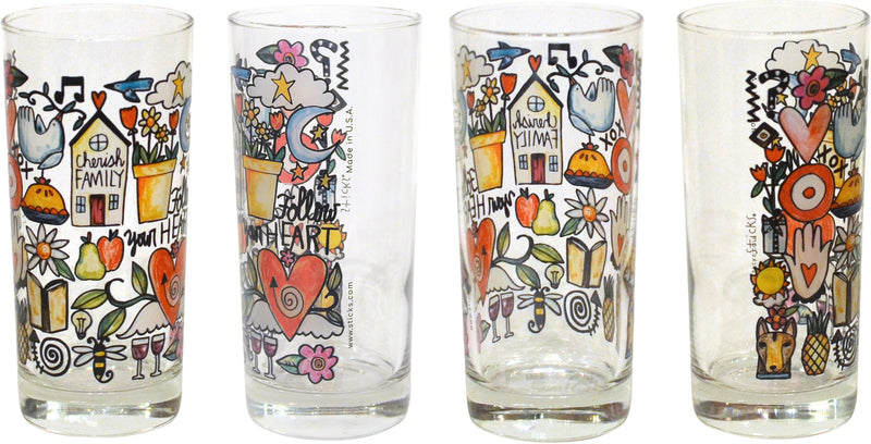 Life's Icons Drinking Glasses