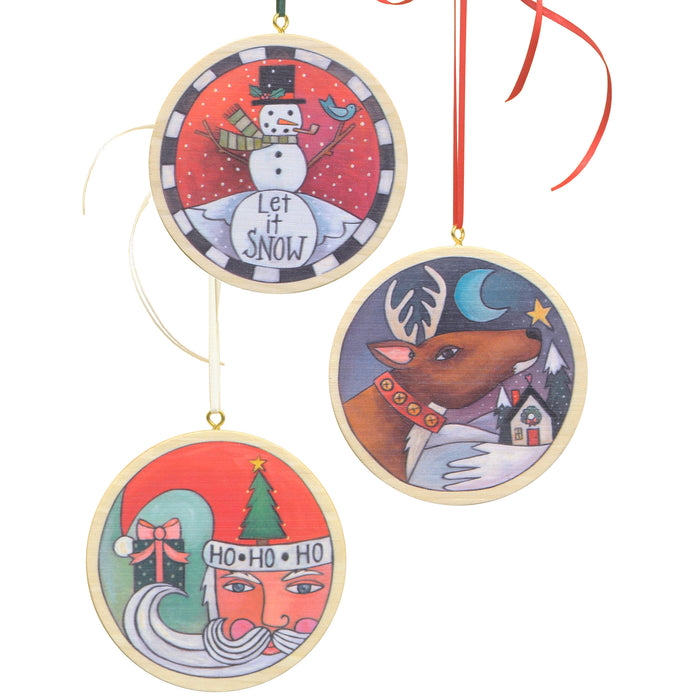 Circle Christmas Ornament Set