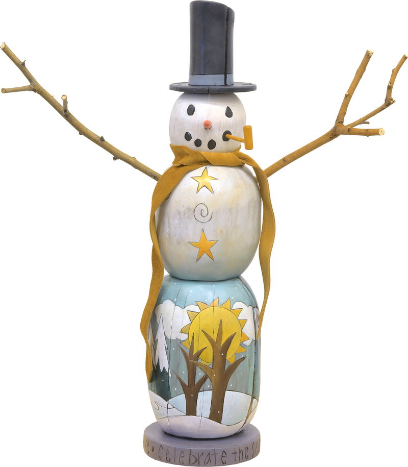 Small Snowman Sculpture