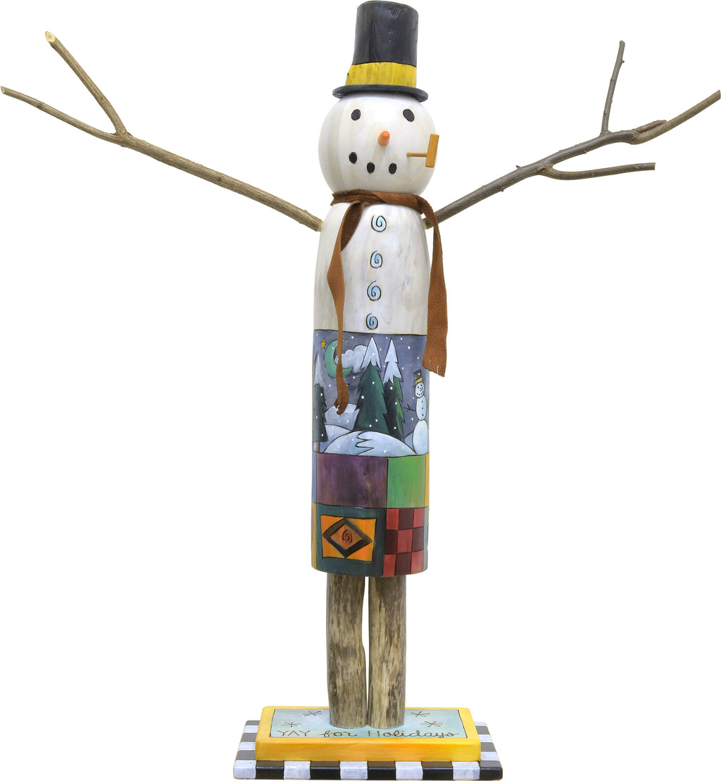 Medium Snowman Sculpture