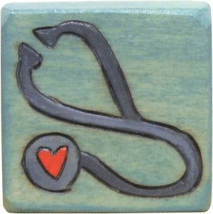 Small Perpetual Calendar Magnet –  Small perpetual calendar magnet with a stethoscope motif for your doctor appointments