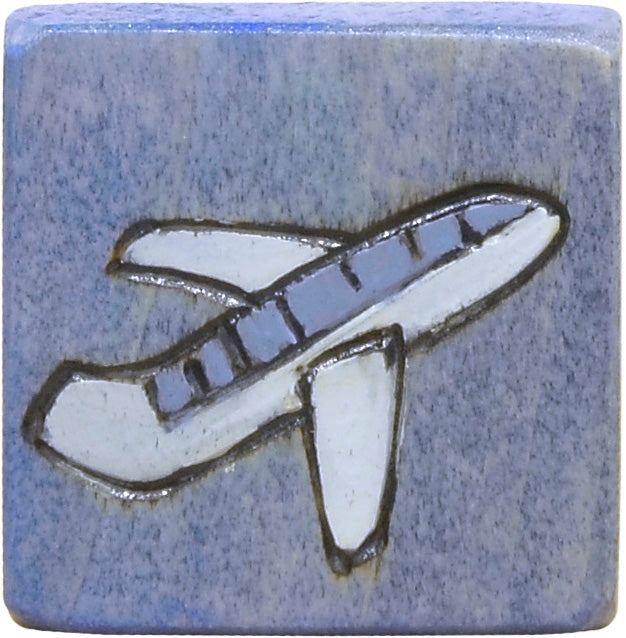 Small Perpetual Calendar Magnet –  Small perpetual calendar magnet with an airplane motif for all your travels