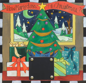 "Christmas Countdown Plaque –  ""How many days 'till Christmas?"" Countdown the number of days until Santa arrives!"