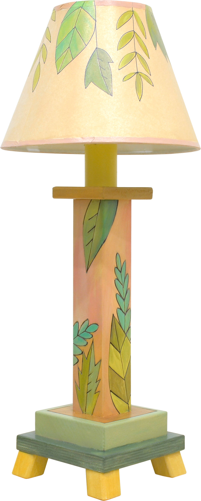 Milled Candlestick Lamp –  Sweet and simple foliage lamp motif