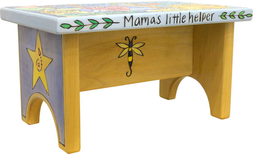 "Step Stool –  Fun and vibrant ""mama's little helper"" child's step stool"