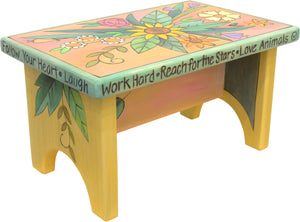 Step Stool –  Floral and feminine step stool design