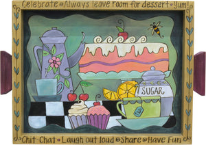 Small Rectangular Tray –  Cute and colorful dessert tray motif