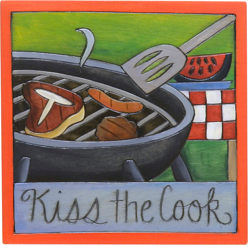 """Kiss the cook"" summer grill-out design"