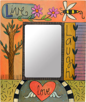 "Sweet and colorful ""live laugh love"" picture frame"
